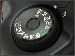 Main camera mode dial