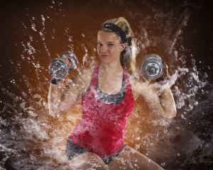 Shine Photo High School Sports, Edgy Composite