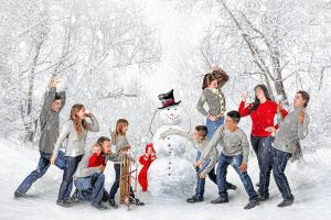 Winter Scape Family Portrait Sessions