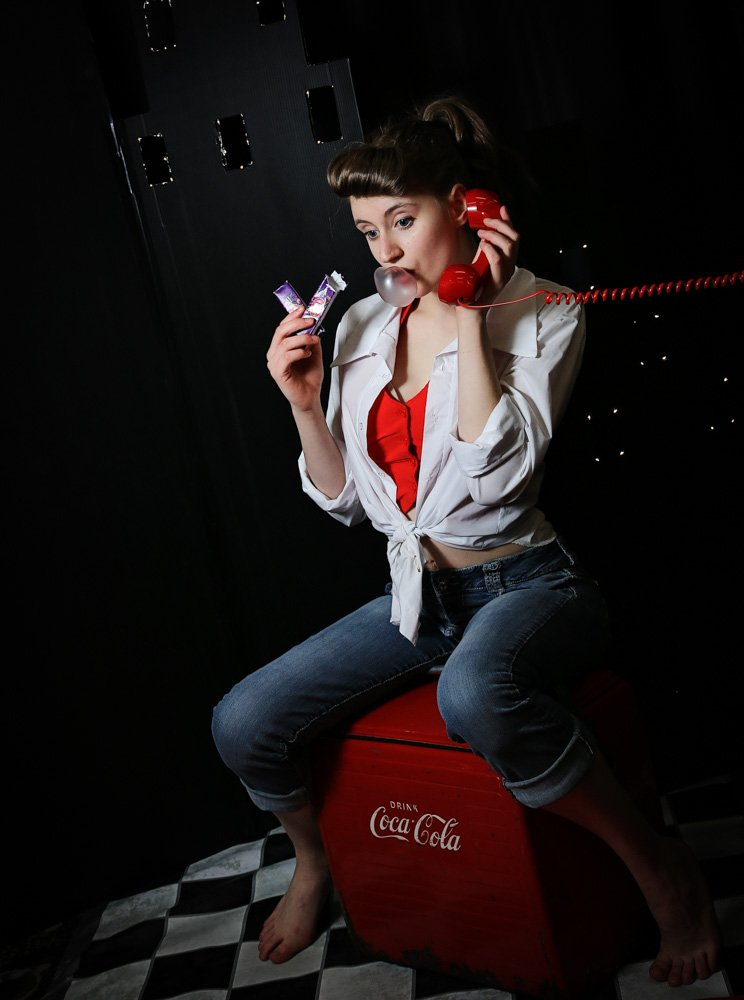 Pin Up - On the Phone
