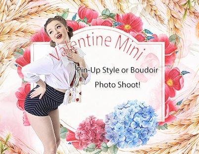 Valentine Mini Pin Up Session at Shine Photo