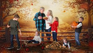 FAll Family Fine Art Portrait